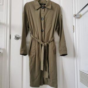 ✨Zara khaki lyocell trench coat/vest with belt